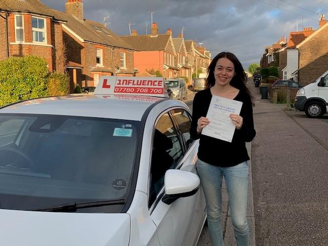 driving test pass woman