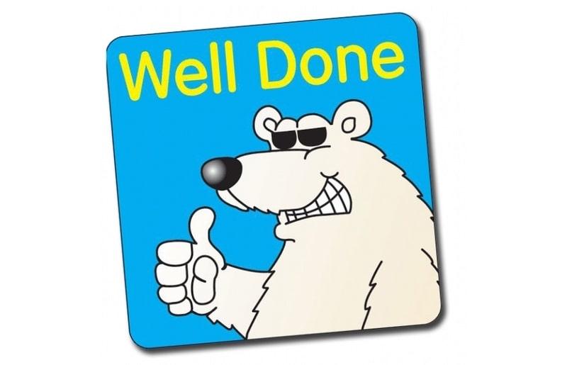 polar bear well done driving test pass banner
